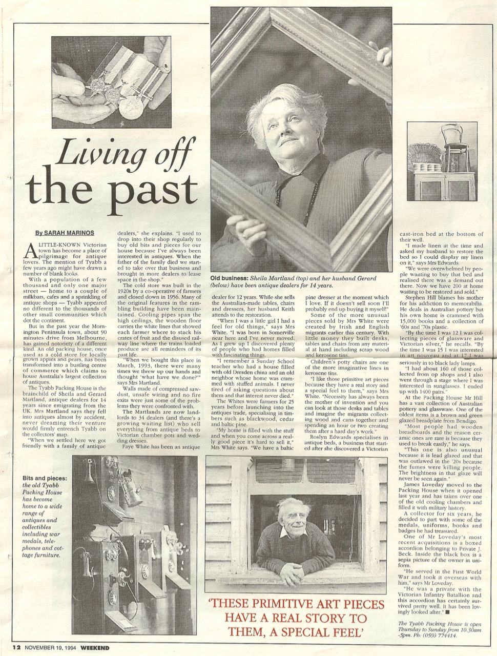 TPHA - Living off the past - Weekend November 19, 1994, pg.12.jpg