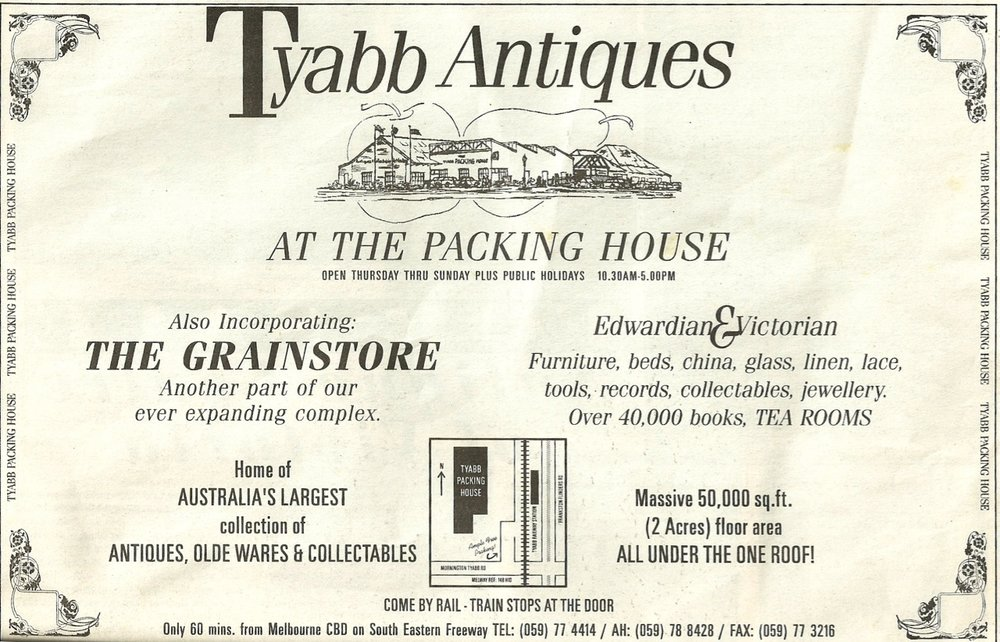 Newspaper advert