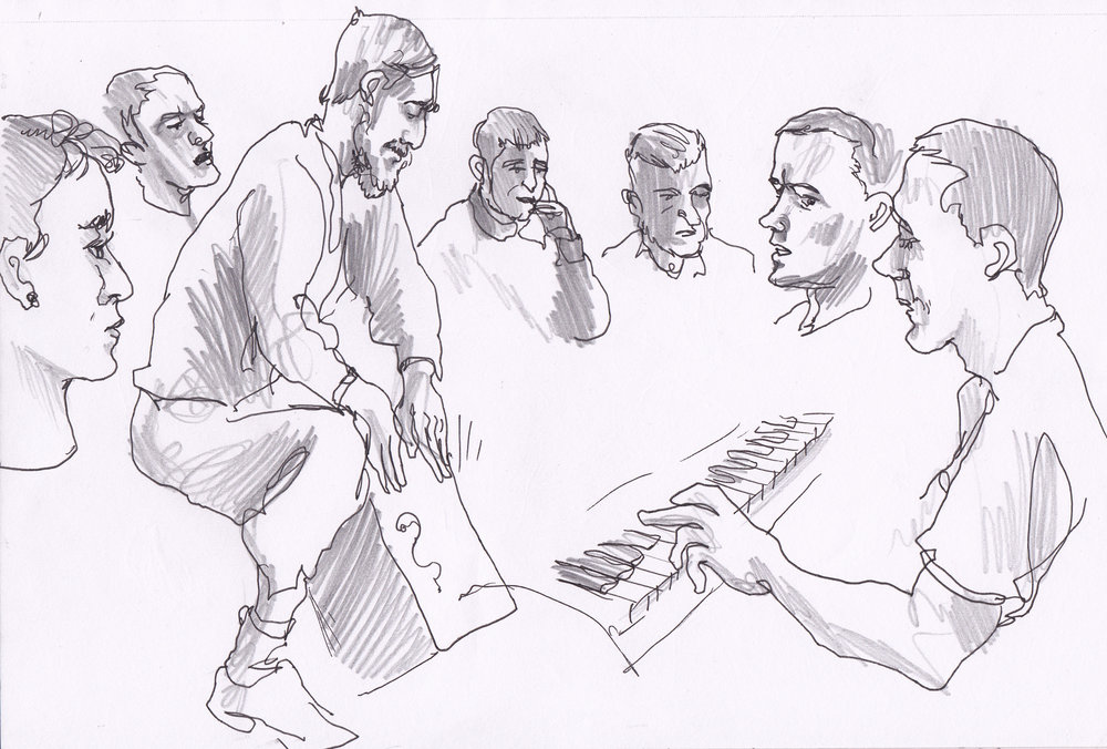 Music Workshop, HMP Lancaster Farms.  Image by Paul Gent.