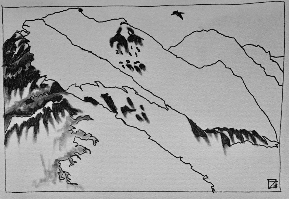 First Drawing of mountains.jpg