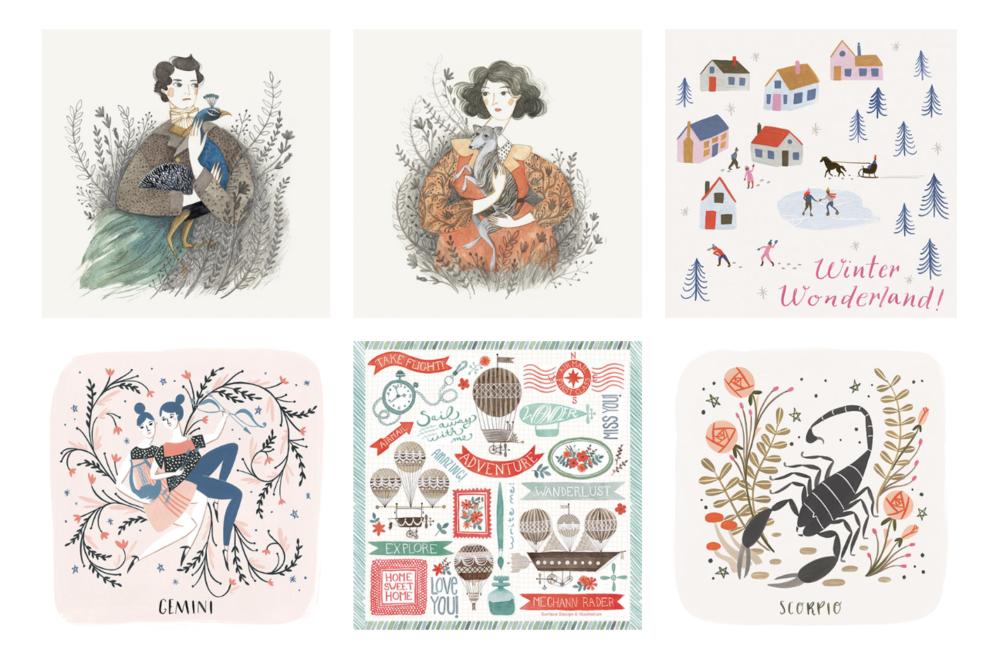 Existing Illustrations from  Meghann Rader's  portfolio