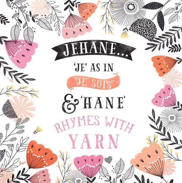JEHANE - How to pronounce Jehane's name