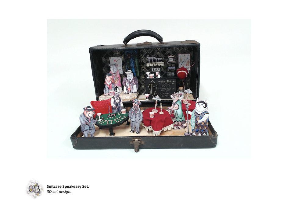 Suitcase Speakeasy Set