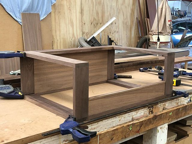 Any guesses as to what I'm working on here? #walnut #furniture #maker #craftsman #perth #freo #fremantle #design