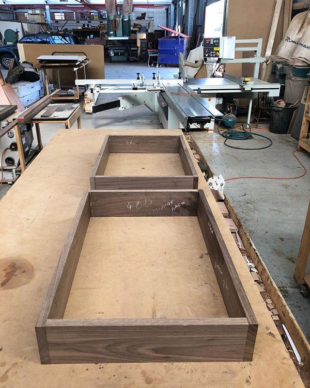 Does this look familiar? Bigger version of the last Walnut project. #furniture #furnituremaker #furnituredesign #craftsman #walnut #freo #perth #fremantle