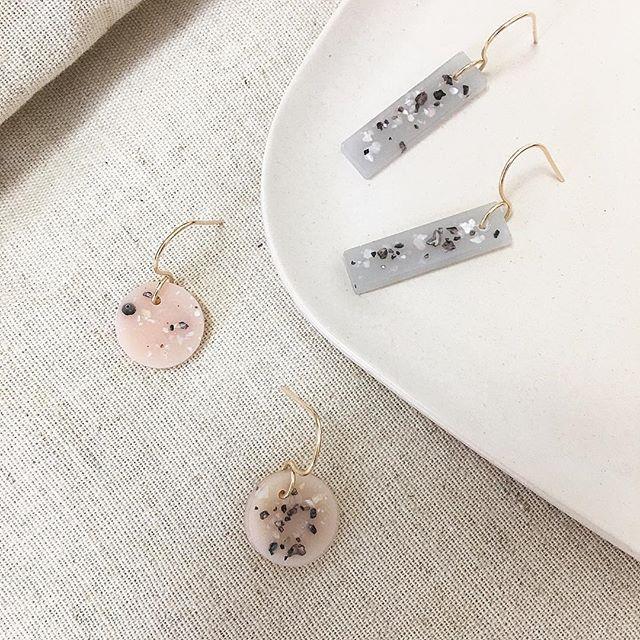 新しいアイテム ✨ Resin earrings #earringsoftheday