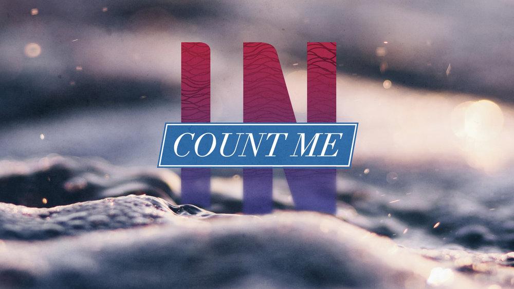 Count Me In Luke 7:27-30