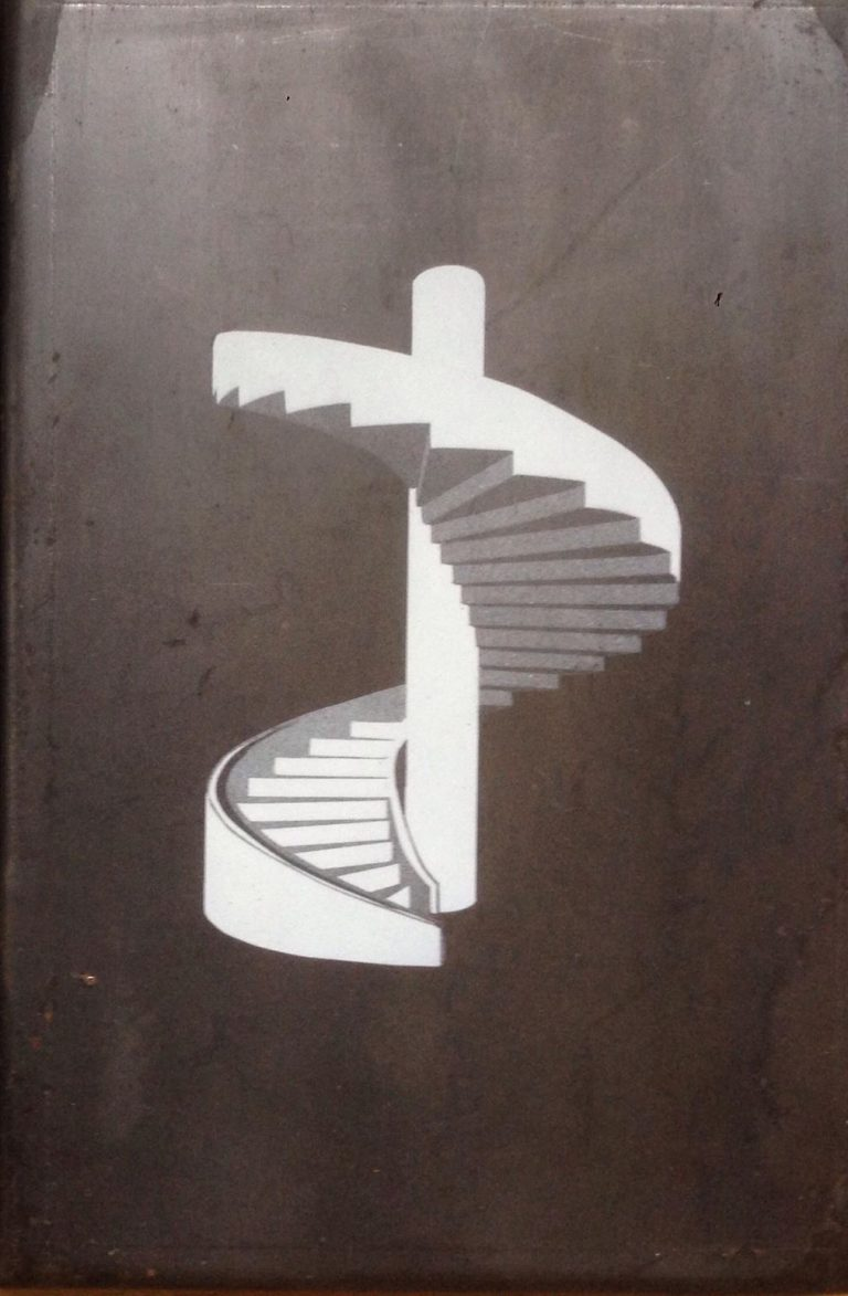 Mudam stairs 2 - Embossed steel plate engraving, single piece20 x 30 x 2 cmEUR 600