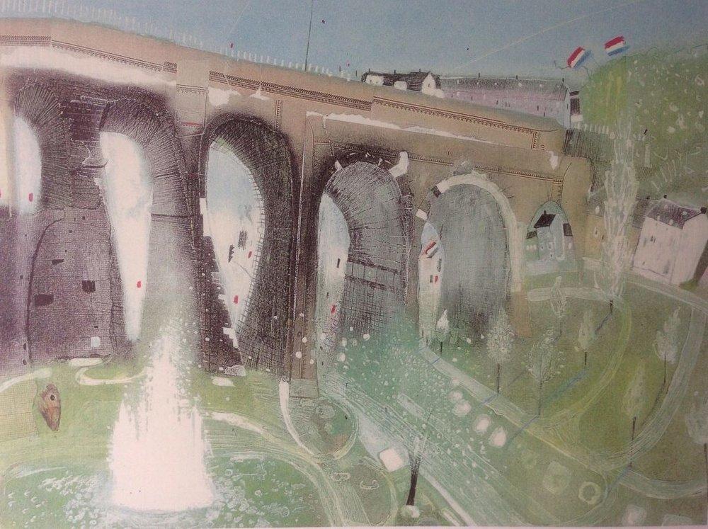Viaduct bridge - Offfset print40 x 50 cmEUR 150