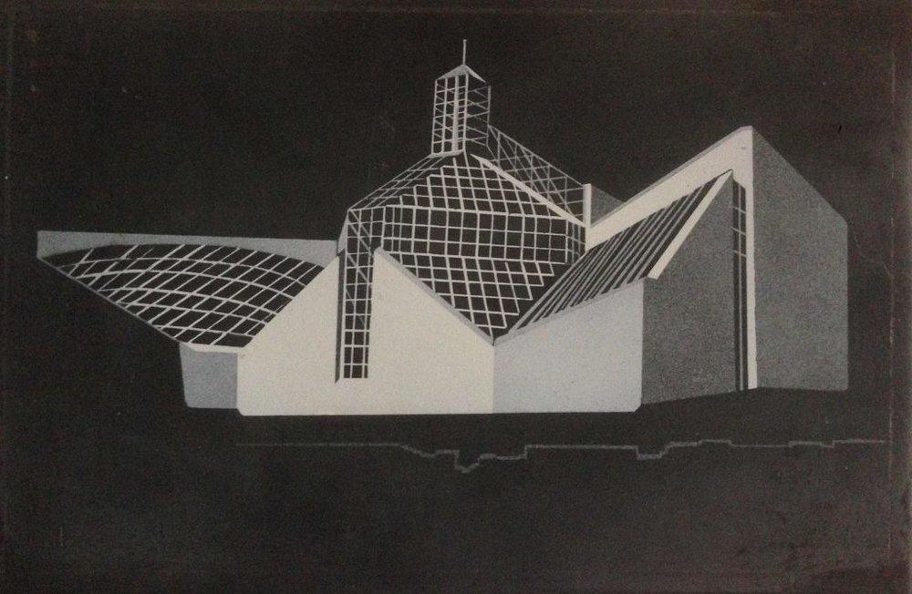 Mudam - Embossed steel plate engraving, single piece30 x 20 x 2EUR 800