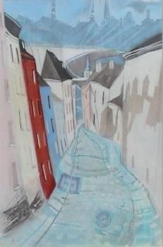 Cobbled street -