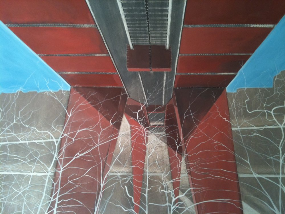 Red bridge underside - Offset print60x 70 cmEUR 250