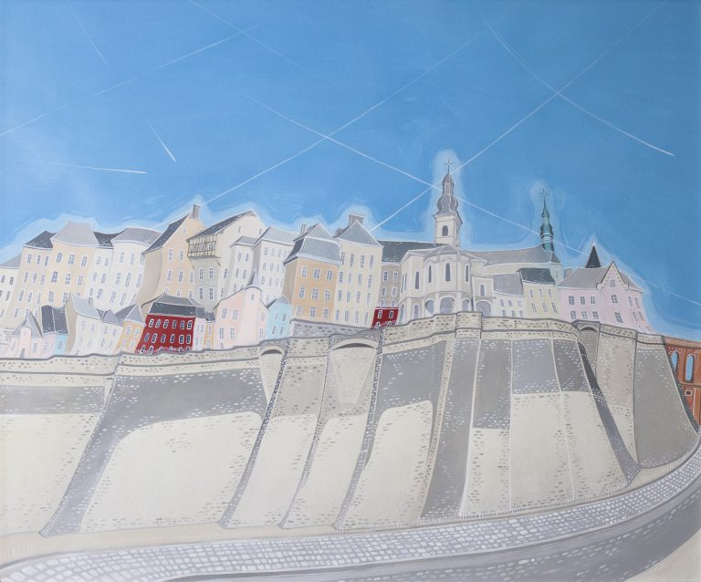 Corniche luxembourg - Mixed techniques (acrylic, pencil, etching, collage) on paper50 x 60 cmEUR 4.500