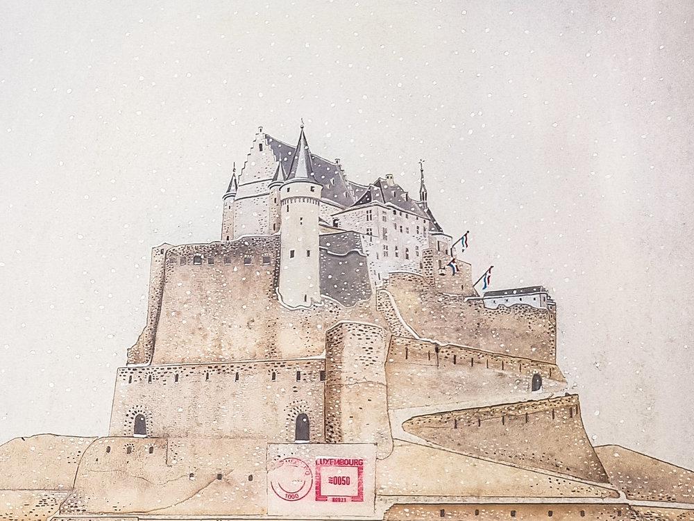 Vianden castle 2 - Offset print40 x 50 cmEUR 180