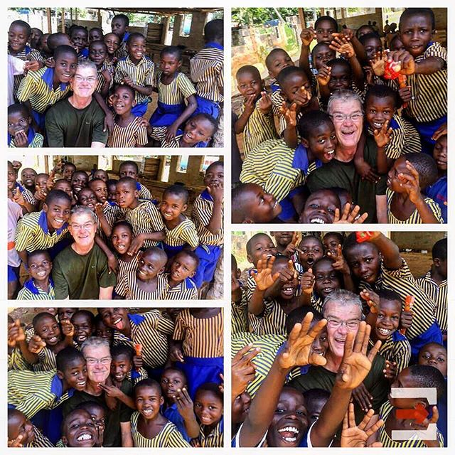 Those who have traveled to Ghana know firsthand that trying to get a group photo is hard. But boy is it fun! Picture courtesy of Bob Deich