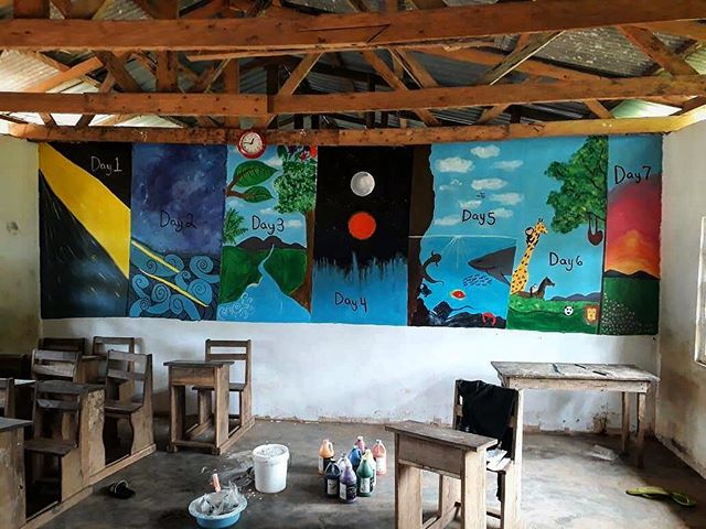 """Look what our Kotokata children saw when thy started school. """"In the beginning God created the heavens and the earth."""" (Gen 1:1)"""