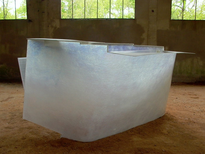 Blank  2010    Polyester & polycarbonate. Dimensions: 140 x 240 x 225cm