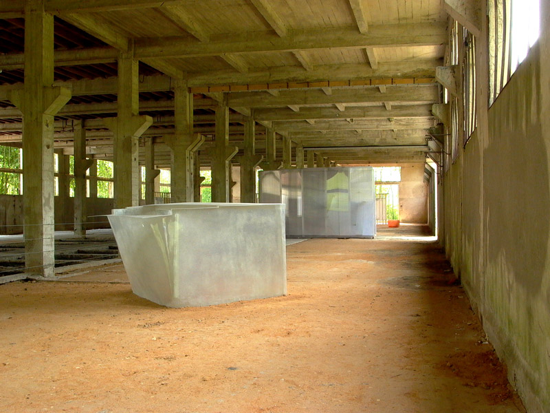 """Exhibition view """"Tanneries""""d'Amilly. France."""
