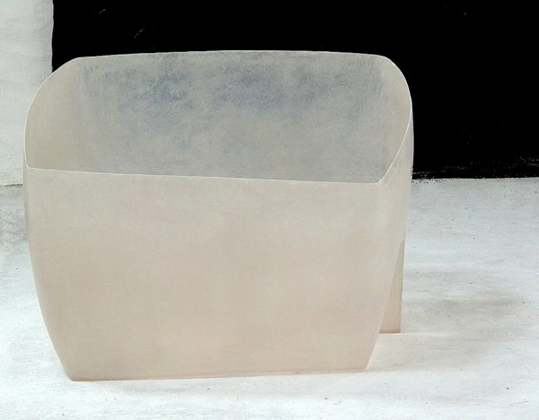 Outside borders.  2007  Polyester resin. Dimensions: 85 x 112 x 118 cm