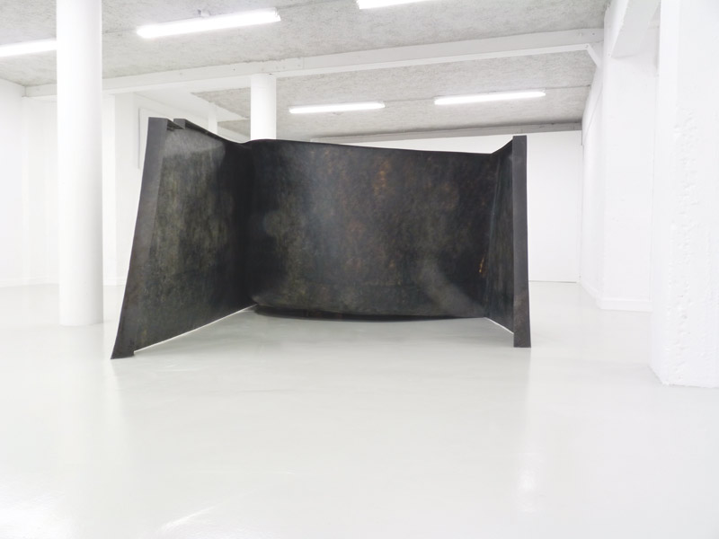 . For Y S . La litre. 2012      Epoxy resin & basalt fabrics. Dimensions: 145 x 300 x 212 cm