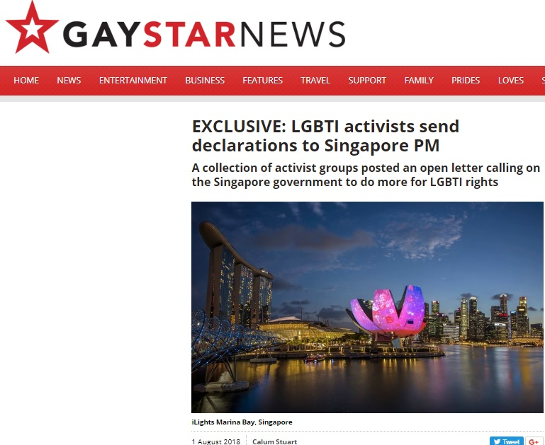 Gay Star News, 1 August 2018
