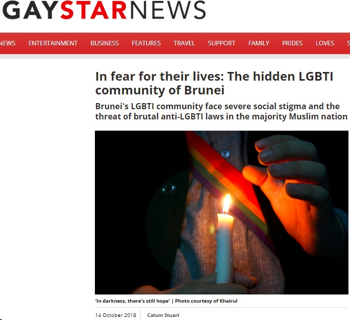 Gay Star News, 14 October 2018