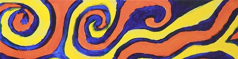 'Batik' by Sally (acrylic on canvas)