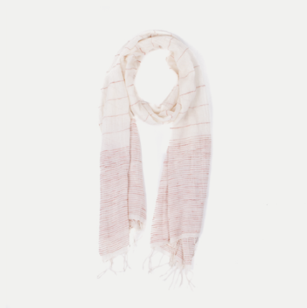 MALENA SCOUT SCARF: CREAM & ROSE $69.00* *TAKE 15% OFF WITH CODE TROVVETRAVEL