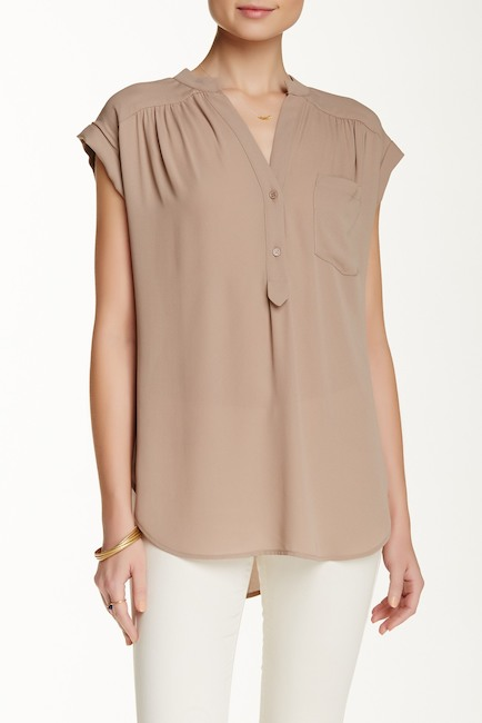 Nordstrom, Tan Blouse