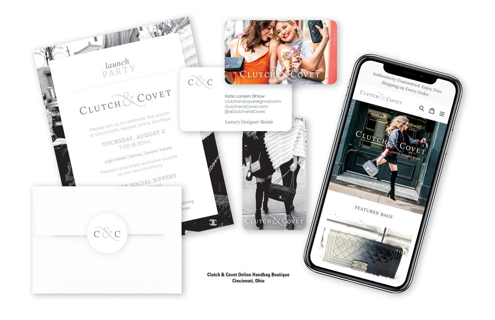 Clutch & Covet Online Handbag Boutique Identity