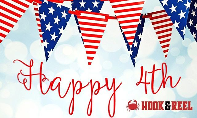 Happy #4thofJuly from all of us at Hook & Reel, Revere!!