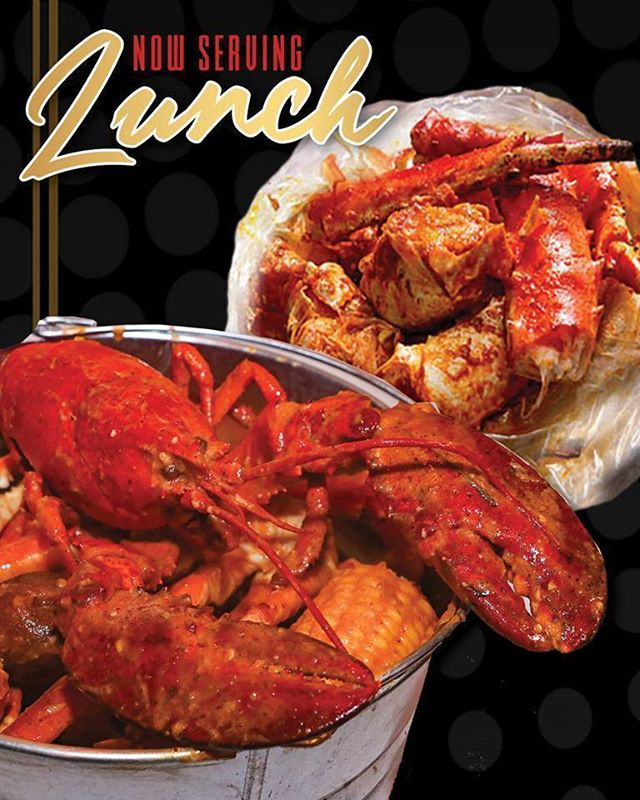ATTENTION!!! Hook & Reel Revere is now serving LUNCH!! Enjoy the authentic flavors of Cajun Seafood boil all day long!  To celebrate, we'd like to offer you 15% off your entire lunch check! *Valid July 23rd-July 26th from 12pm- 4pm!! SHOW THIS POST TO YOUR SERVER TO REDEEM!! (Cannot be combined with any other offer)