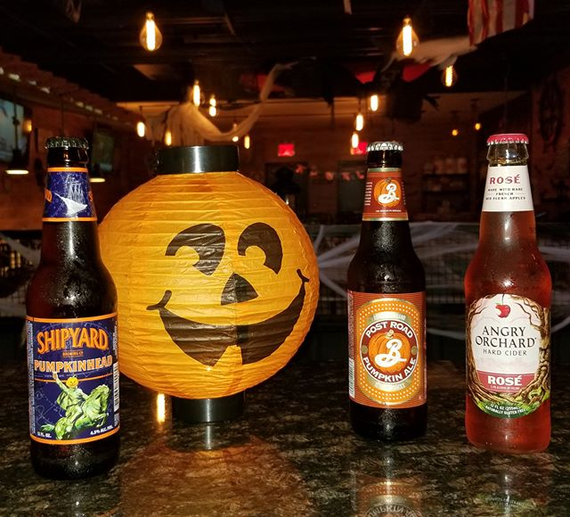 #PumpkinSpice season is upon us.... and of course we're joining in!! We're kicking off the season with #PumpkinBeer.  For $6 each stop in and try out Shipyard Pumpkinhead, Post Road Pumpkin Ale, and Angry Orchard Rosè! (Available for a limited time only.)