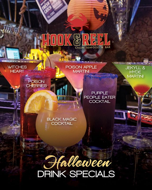 We're getting EXCITED for our Davy Jones Locker Halloween Party!  Stop in and try our NEW Halloween Cocktails... help us decide witch..oops we mean which three we will serve at our Halloween Party!