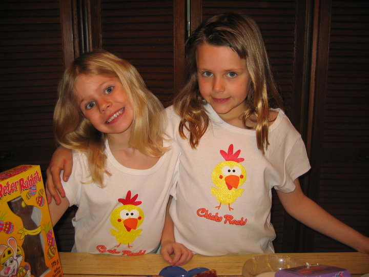Me and my cousin Kirsten c. 2005: If it's not punny, it's not funny.
