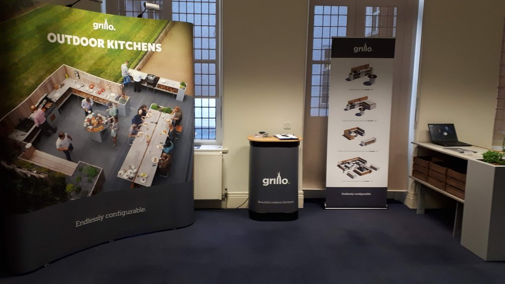 Grillo exhibiting outdoor kitchens at SGD conference