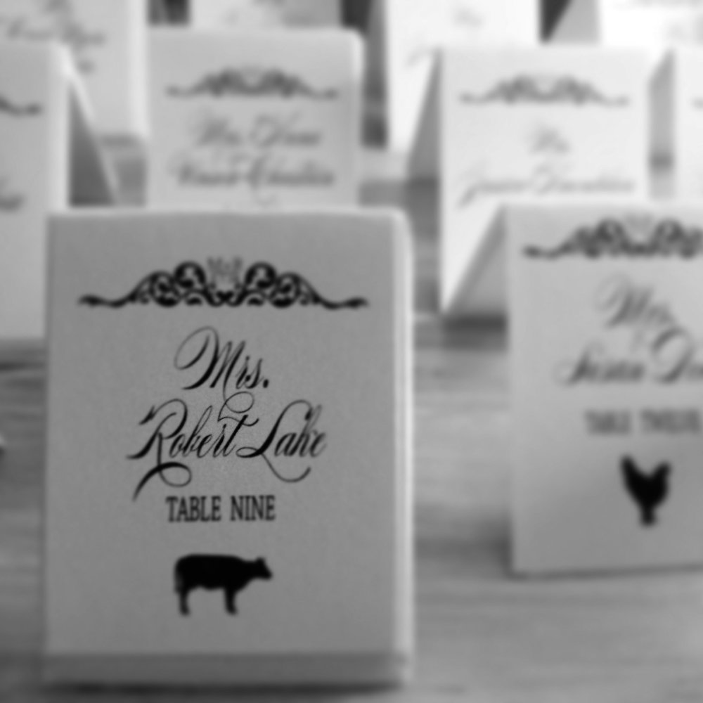 CUSTOM PLACE CARDS | SIZE VARIES | $0.50 +