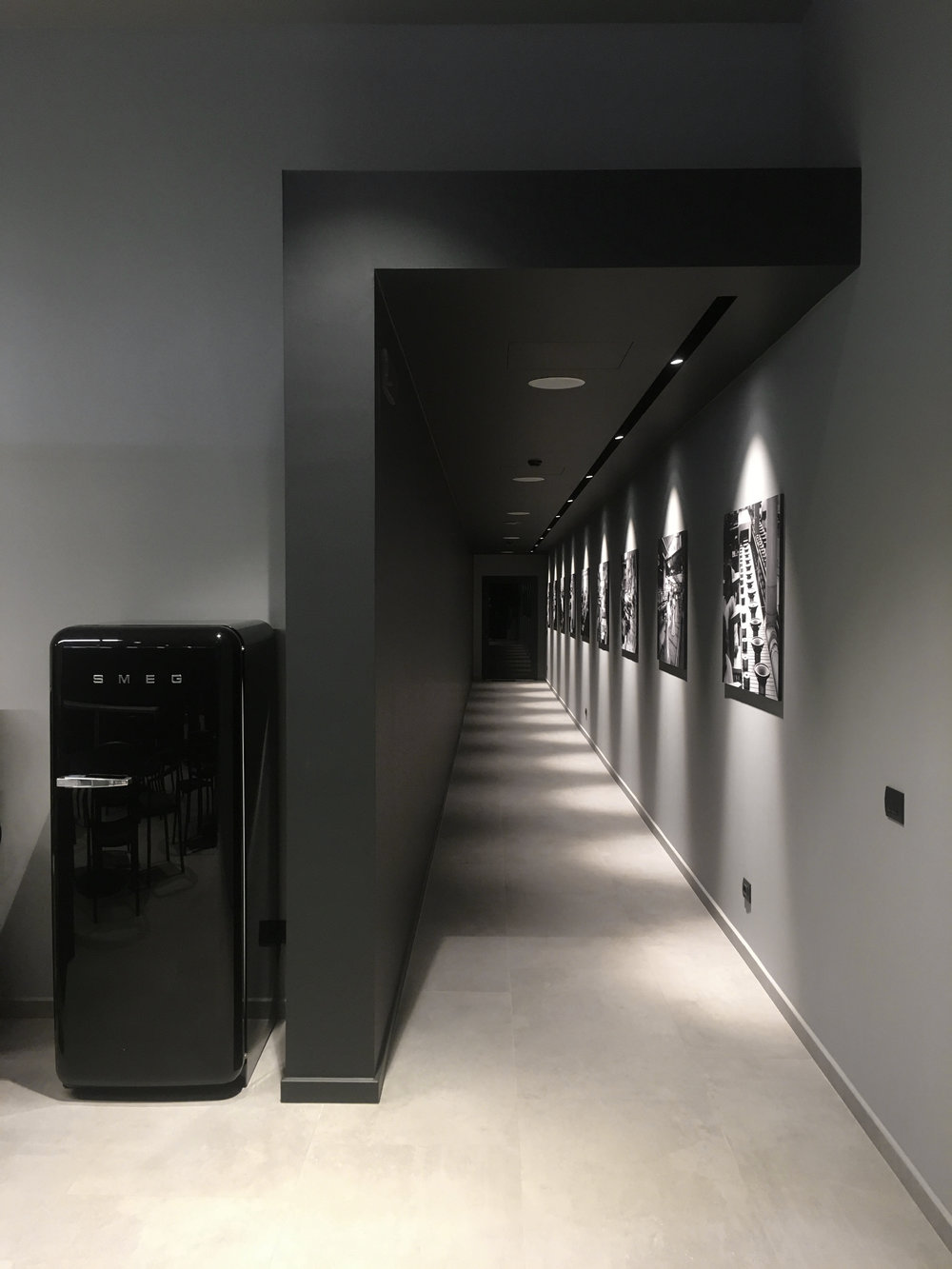 RCF Demo Academy Progettazione illuminazione e fornitura corpi illuminanti progetto di Matteo Nobili ingegnere interni Maurizio Di Mauro architettoprogetto luci Marcello Colli.
