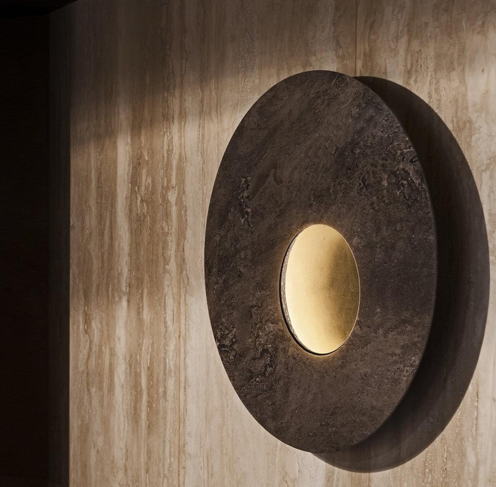 Collezione di lampade in Pietra per Con.Ca Marmi disegnata da Marcello Colli e Maurizio Di Mauro