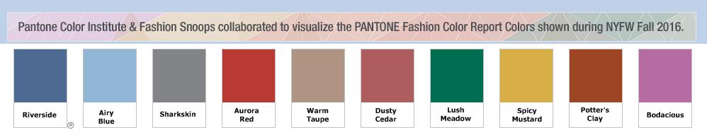 Pantone top 10 colors fall 2016