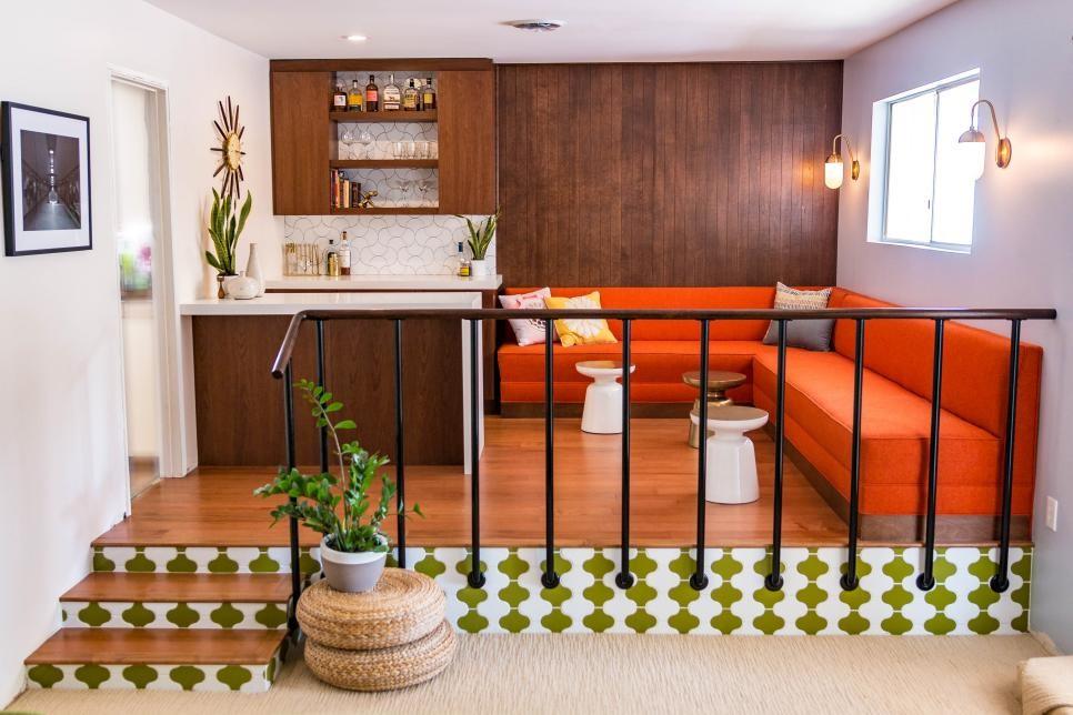 blended in home bar design