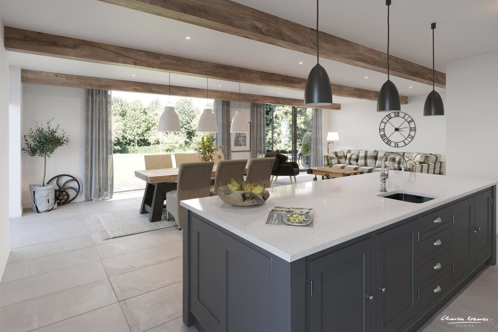 Barn Conversion Kitchen Artist Impression
