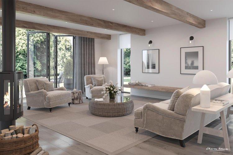 barn interior design. Barn-conversion-interior-artist-impression.jpg Barn Interior Design B