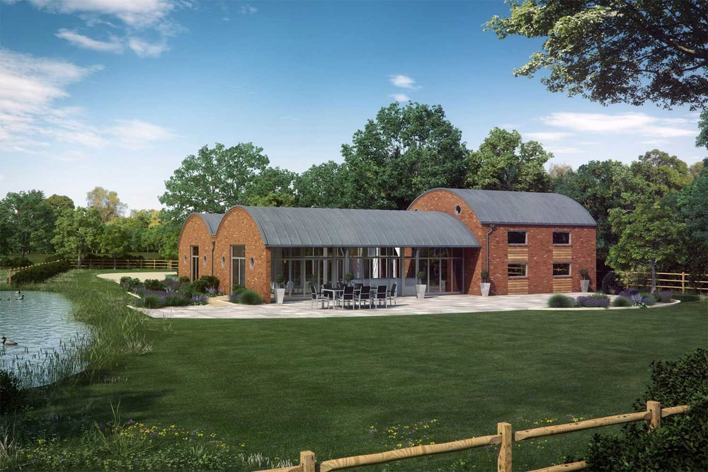 Architectural visualisation of of a barn conversion