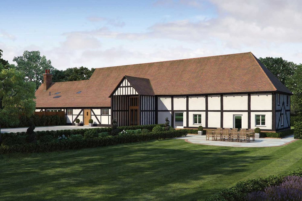 ARTIST'S IMPRESSION OF A NEW BARN CONVERSION IN BERKSHIRE