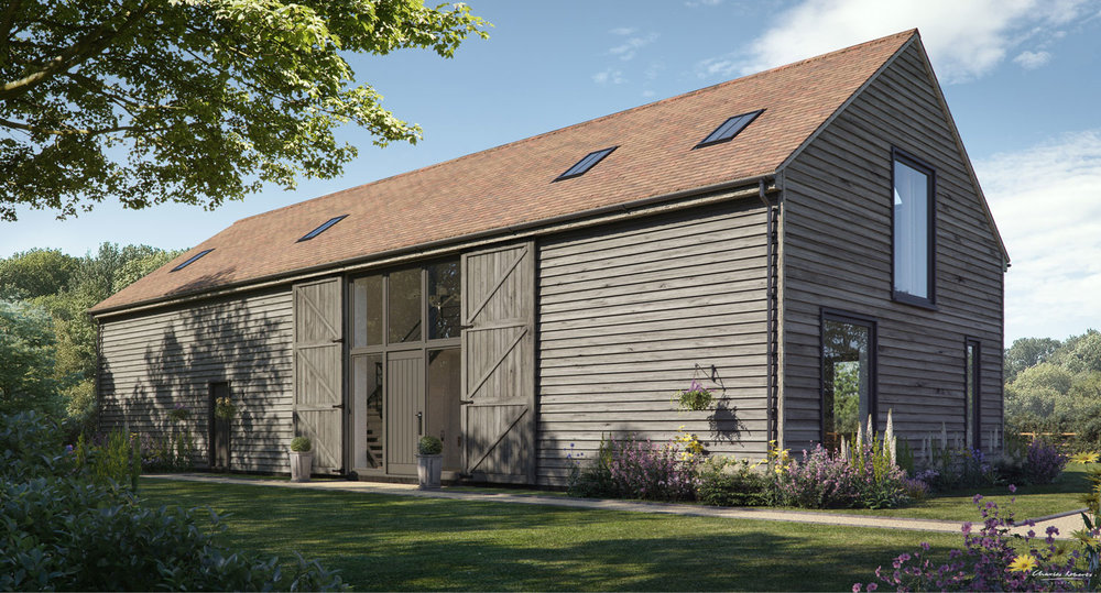 Artists impression of a barn conversion in Berkshire