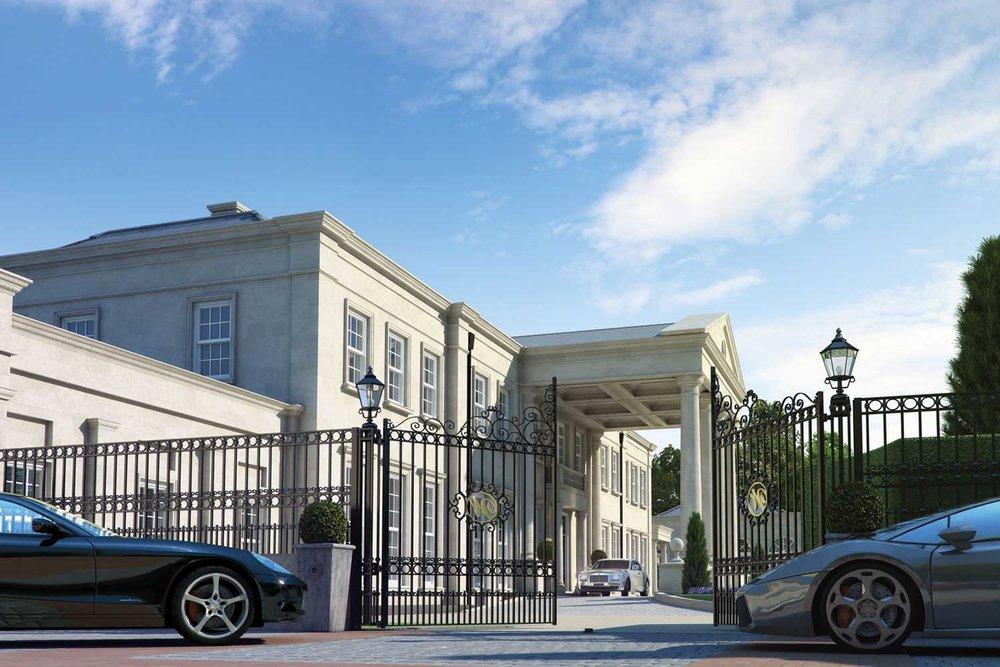 Artists impression of a 48,000 sq ft mega mansion in Surrey, UK