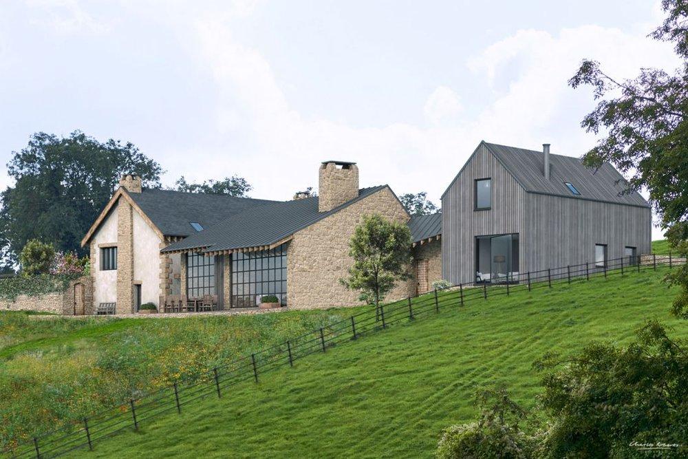 CGI of a new modern house