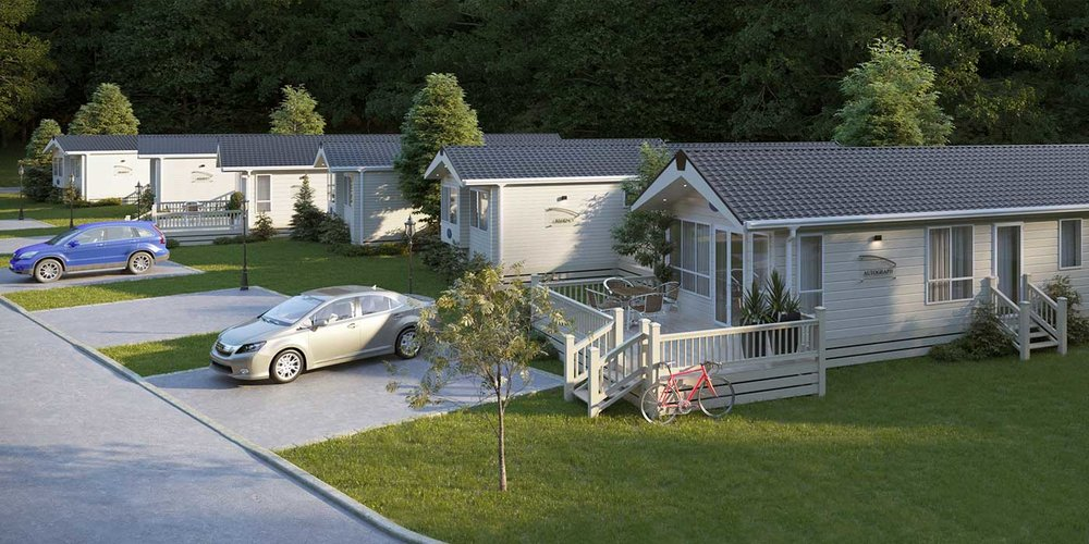 CGI of New Holiday Homes Development