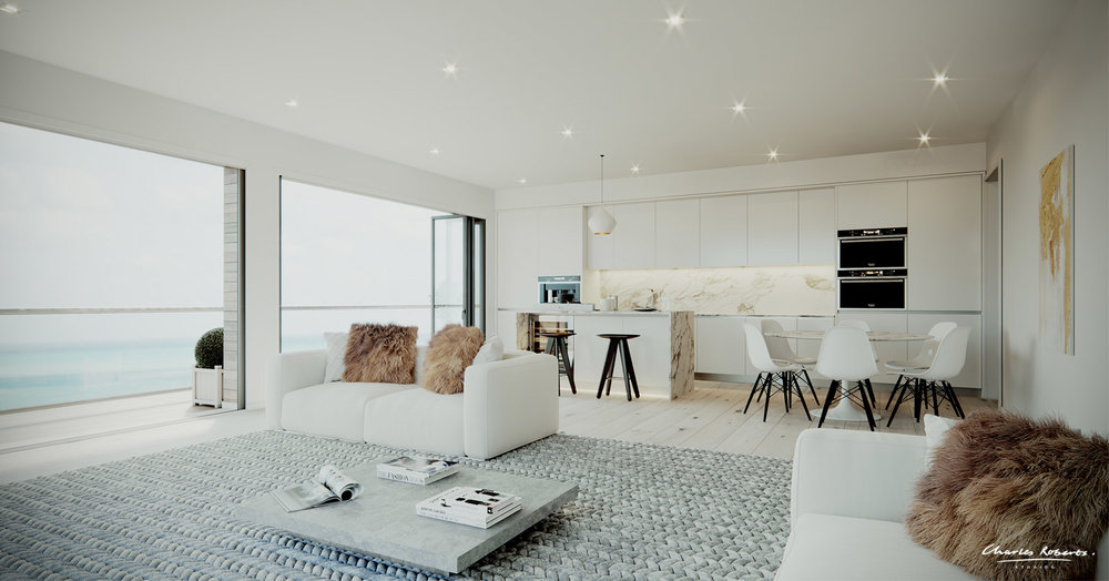 Artists impression of the penthouse interior